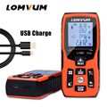 LOMVUM 100m new USB charge electronic Level 40M Laser Rangefinders Digital Laser Distance Meter calculation distance measurer