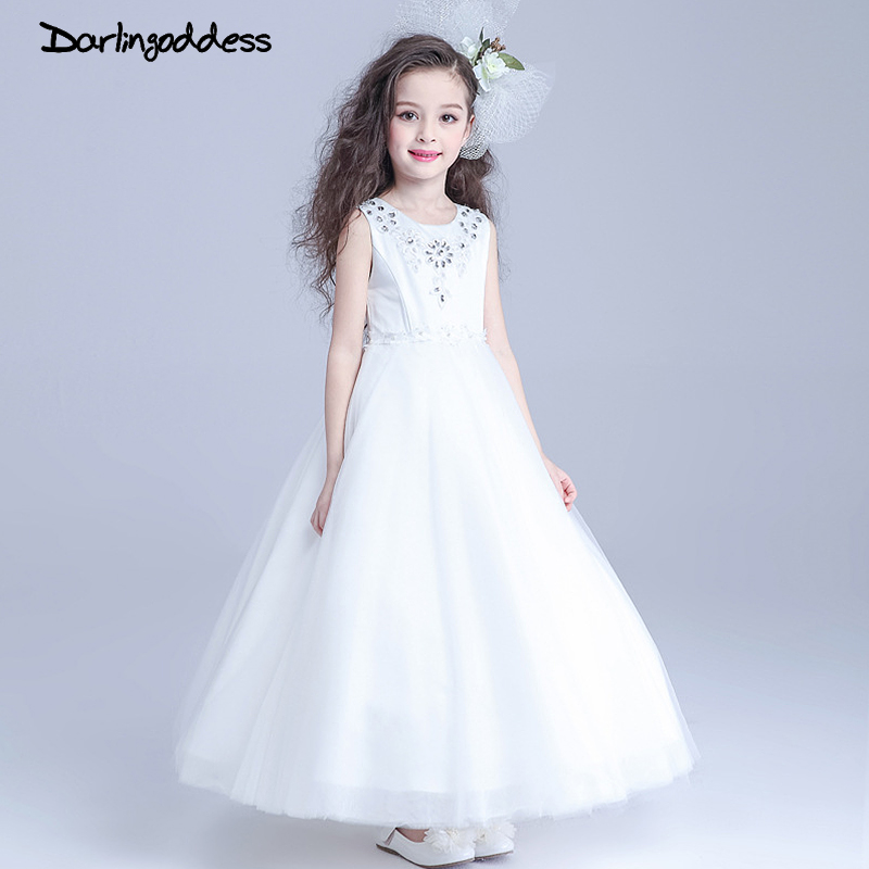 2017 White Flower Girl Dresses For Weddings Party Baby Pageant Dres