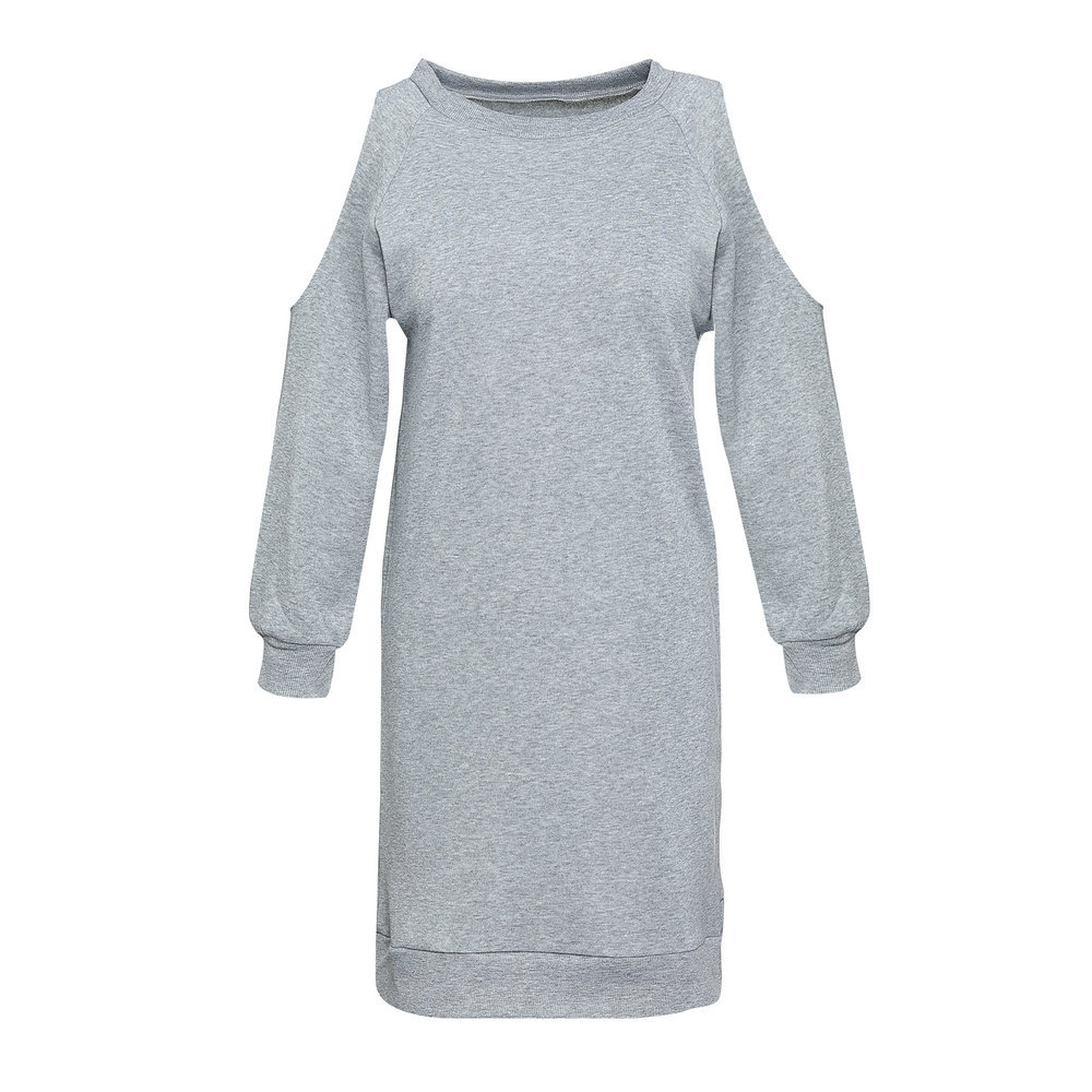 Women Autumn Long-sleeved Dress Sexy Off the Shoulder O Neck Casual Laides Straight Mini Dress 2018 Fashion Female Vestidos