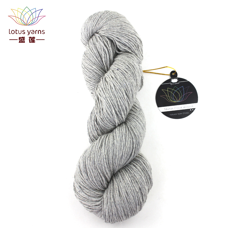 Lotus Yarns Tibetan Cloud Worsted Yarn Natural Tibetan Yak Hand Knitting Colored DIY Crochet