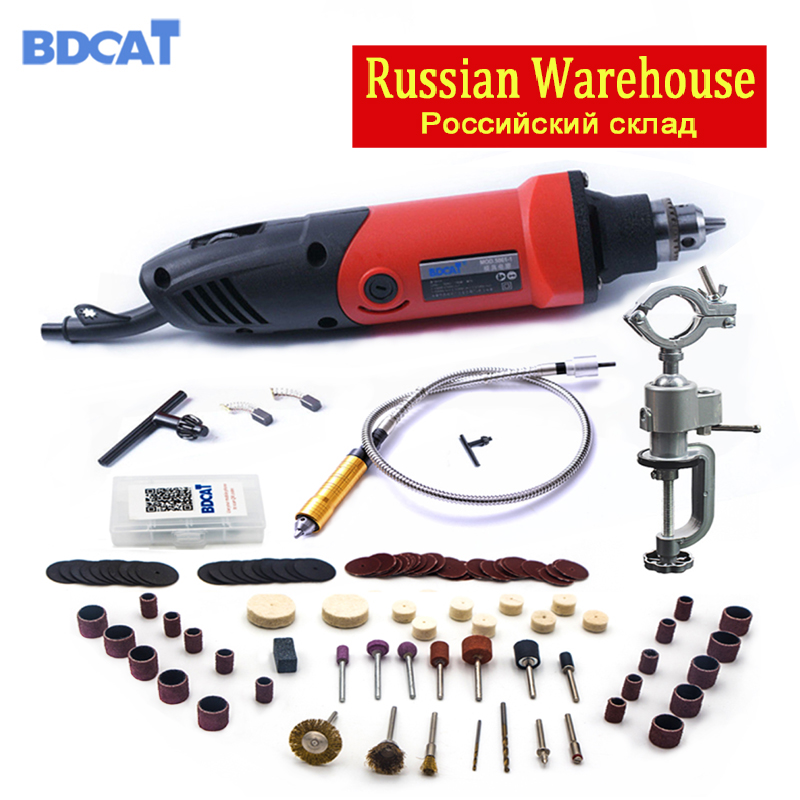 BDCAT Electric Drill Dremel Grinder Engraving Grinder Mini Drill Rotary Tool Grinding Polishing Machine Dremel Accessories