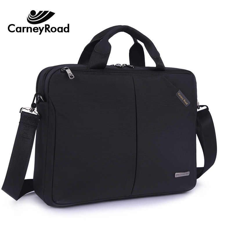 Carneyroad maleta Homens de Negócios Oxford Mulheres 13 14 Polegada Laptop Documento Do Office Hangbags Casuais Sacos Sacos de Viagem À Prova D' Água