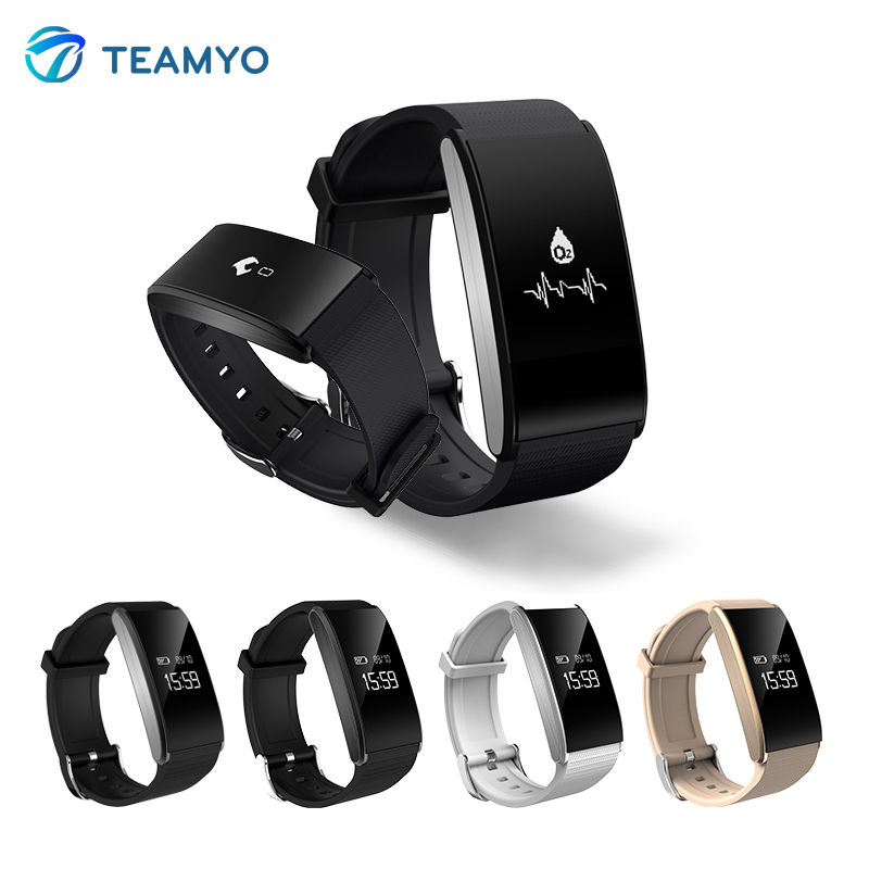 Teamyo A58 Smart band Blood pressure watches Blood oxygen Wearable Devices Bracelet Heart rate monitor cardiaco