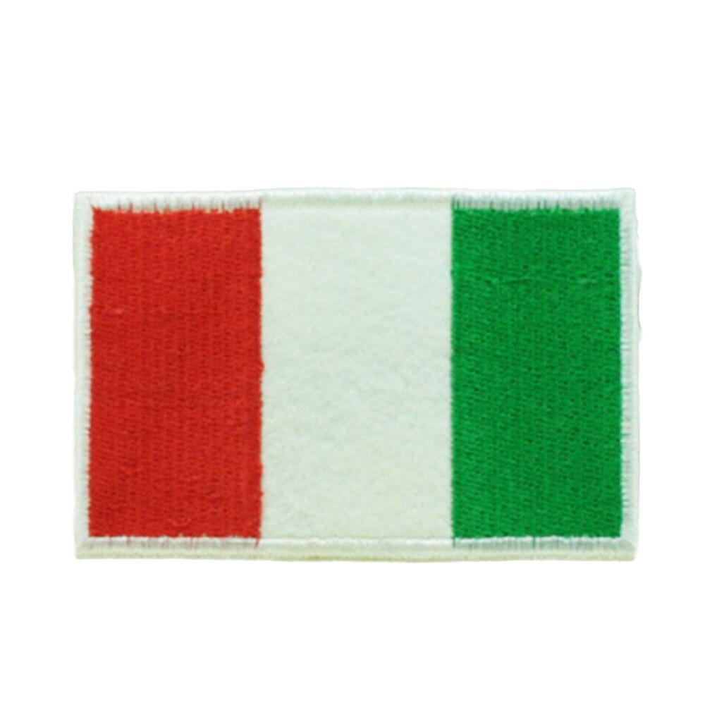 Нашивки с национальным флагом для одежды, нашивки с национальной эмблемой, нашивки с вышивкой, наклейки для одежды, нашивки с изображением страны, железные нашивки - Цвет: Italy
