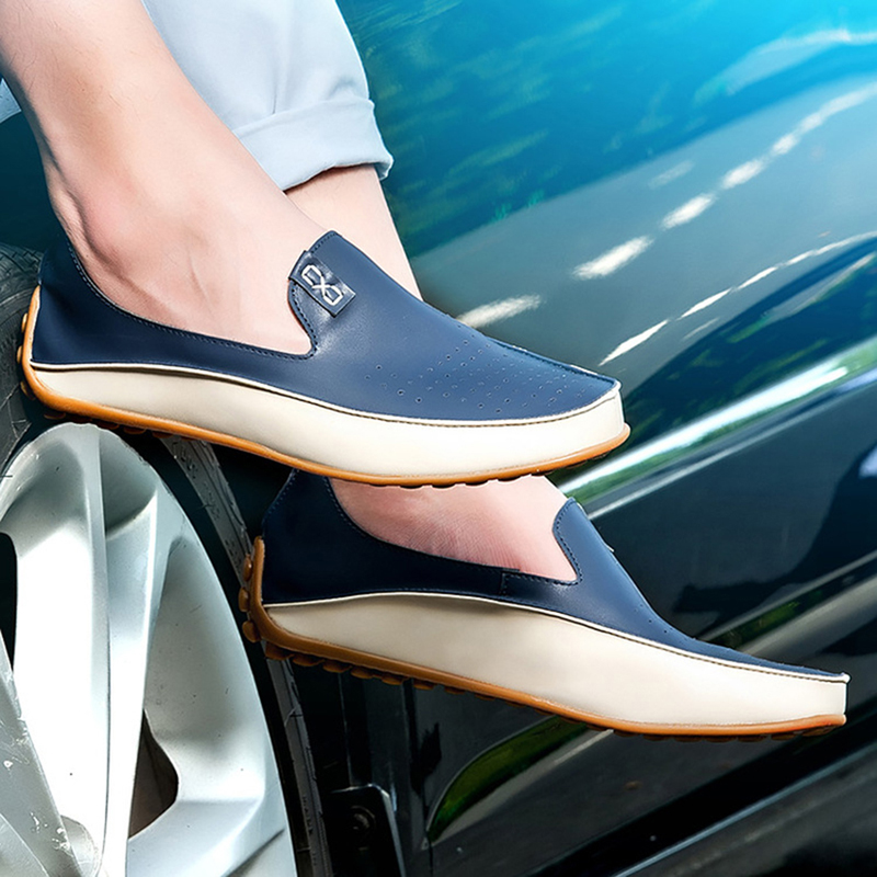 2017 New Fashion Men Loafers Luxury Brand Flats Shoes for Men Driving Shoes PU Leather Loafers Men Casual Shoes 2 Styles 910673 new original 5 inch e ink lcd display screen for pocketbook 360 ed050sc3 lf