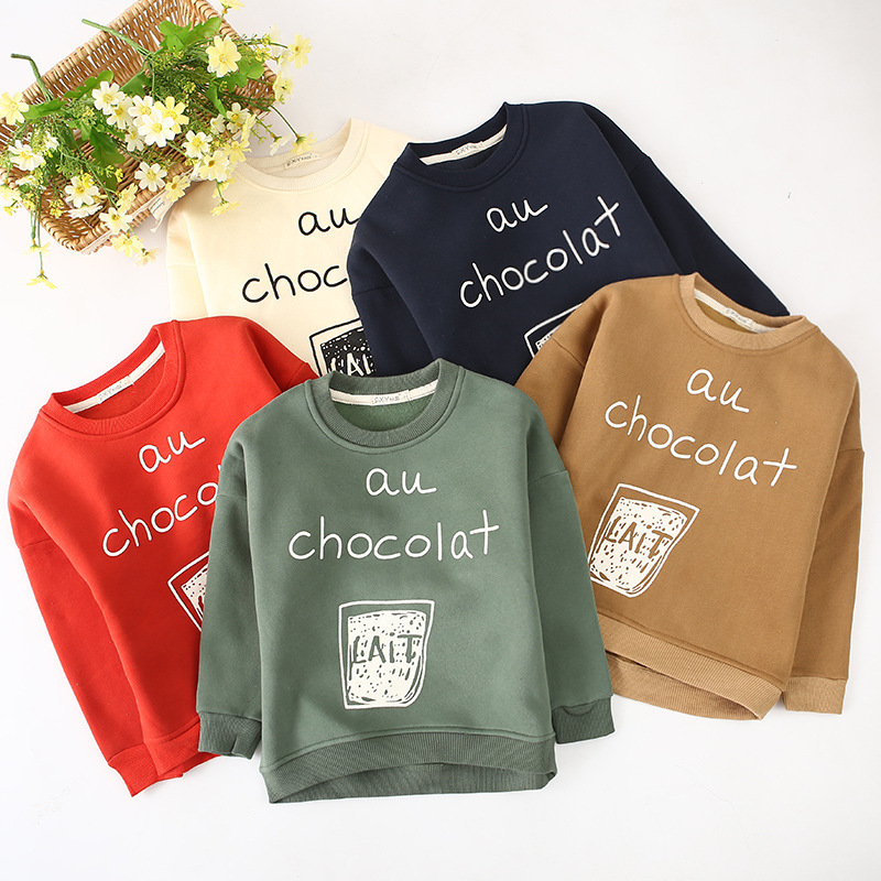 2018 Fashion Autumn Winter Sweatshirt Boys Kids Child Girls T Shirts Long Sleeve Letter Printed Baby Toddlers Clothes Tops letter print long sleeve sweatshirt dress page 5