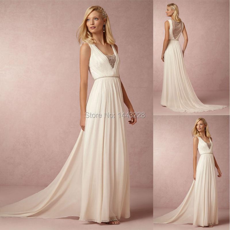 Popular grecian wedding dress buy cheap grecian wedding for Toga style wedding dress