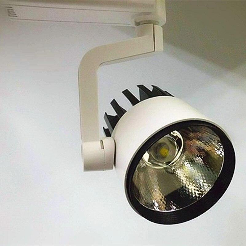 30W LED Tracklight 2wire 3 wire,COB Rail Light Spotlight Lamp Replace 300W Halogen Lamp AC110V120V220V230V led track light 30w dimmable cob rail light spotlight lamp replace 300w halogen lamp 110v 120v 220v 230v 240v spot lamp bulb