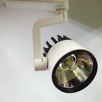 30W LED Tracklight 2wire 3 wire,COB Rail Light Spotlight Lamp Replace 300W Halogen Lamp AC110V120V220V230V