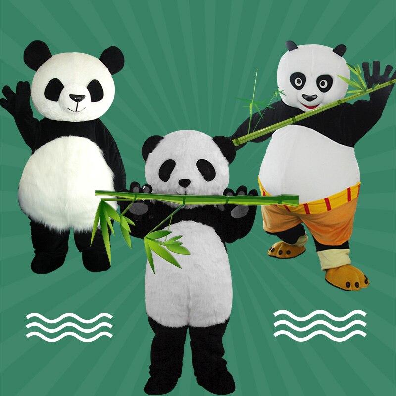 Atacado Chinês Panda Gigante Traje Da Mascote tamanho Adulto Kungfu panda traje Da Mascote Kung Fu Panda cosplay Natal Mascote