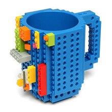 Посуда для напитков строительные блоки кружки DIY блок головоломка кружка 12 унц.. 1 шт. сборка-на кирпичной креативной кружке из Lego кофейная чашка бесплатная доставка