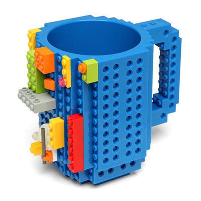 Drinkware bloques de construcción tazas DIY rompecabezas taza 12 oz 1 pieza construir-en el ladrillo taza creativa Lego tipo taza de café envío gratuito