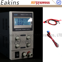 QJE PS3010 Backlight LCD display Mini Adjustable DC power supply Switching Power supply OVP/OCP/OTP 0 30V 0 10V 220V EU Plug