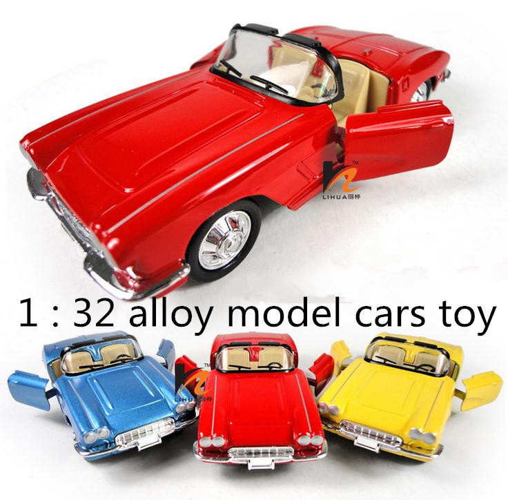 Classic Toys! 1 : 36 Alloy Hood Retro Classic Cars Pull Back Open Door Model Cars Toy Children's Favorite  Free Shipping