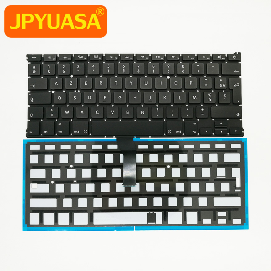 5pcs lot New AZERTY FR French France Keyboard Backlight For Macbook Air 13 A1369 A1466 2011