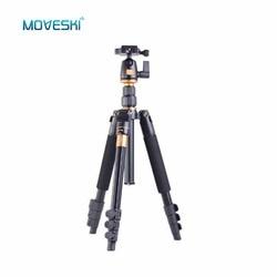 Moveski Q555 Professional Portable Magnesium Aluminium Alloy Tripod Monopod & Ball Head SLR Camera for Canon Nikon Pentax Sony