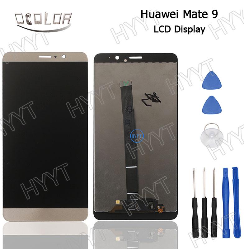 Prix pour Pour huawei mate 9 écran lcd display + écran tactile d'origine digitizer assemblée de remplacement avec des outils pour huawei mate 9