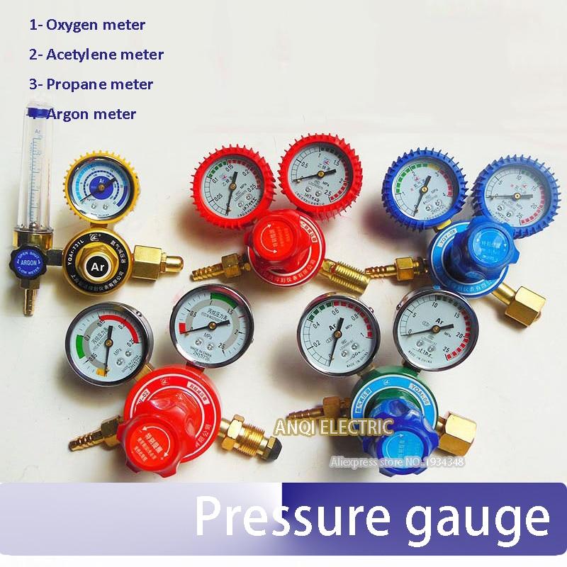 G5/8'' -14 shockproof oxygen/acetylene/argon/propane meter gas meter pressure gauge regulator