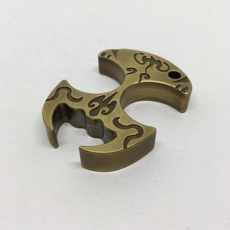EDC Multipurpose Solid Brass Defense Outdoor Window Breaker Brass Keychain
