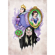 "5D DIY Diamond Painting Rhinestone Cross Stitch Cartoon""Snow White, Queen, Witch""Mosaic Diamond Embroidery Child decoration gift(China)"