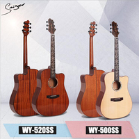 Brand acoustic guitar WY 500SS WY 520SS 41 inch student professional playing light solid wood Guitar guitar manufacturer wholesa