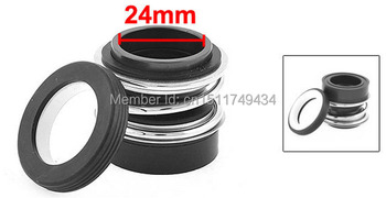 MB2-24 Ceramic Rotary Ring Rubber Bellows Pump Mechanical Seal 24mm 2pcs image