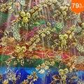 Роскошная и недорогая Высококачественная занавеска  вышитая вручную фатиновая простыня  много объемных цветов и листьев на ней  с роскошны...