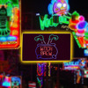 LED Neon Sign Light Plate Witch Legs Shape Design Night Lamp Wall Light For Coffee Bar