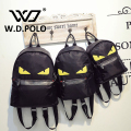 W.D POLO Monster oxfords women backpack female hand bags high chic brand design lady 3 size backpacks bolsa famina M2115