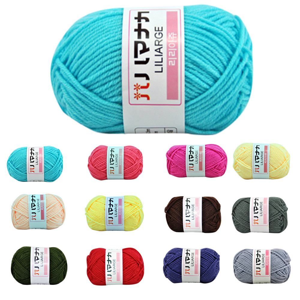 ISHOWTIENDA DIY Apparel Sewing & Fabric Yarn 1PC 25g Chunky Colorful Hand Knitting Milk Cotton Crochet Knitwear Wool