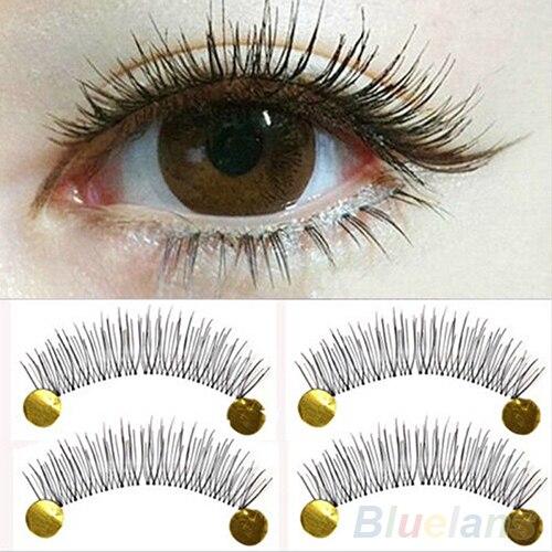 10 pares macio Natural artesanal cruz Eye Makeup Lashes extensão cílios postiços 1V6W