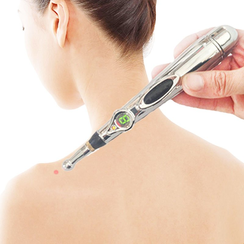Health care monitor Electric meridians Laser Acupuncture Magnet Therapy instrument Heal Massage Meridian Energy Pen massager health care meridian acupuncture pen magnet therapy instrument massage meridian energy pen massager 5 massage head energy pain