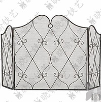 Classical Wrought Iron Console Mantel Furnace Frame Fireplace Surrounds Fire Enclosure Cover Fire