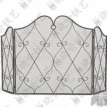 Classical, wrought iron console mantel furnace frame, fireplace ...