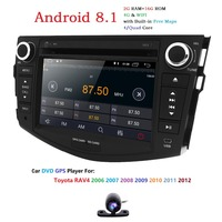 Hizpo 1024*600 NEW Android 8.1 car dvd player For Toyota RAV4 Rav 4 2006 2007 2008 2009 2010 2011 2Din DVD GPS WIFI RDS RADIO 4G