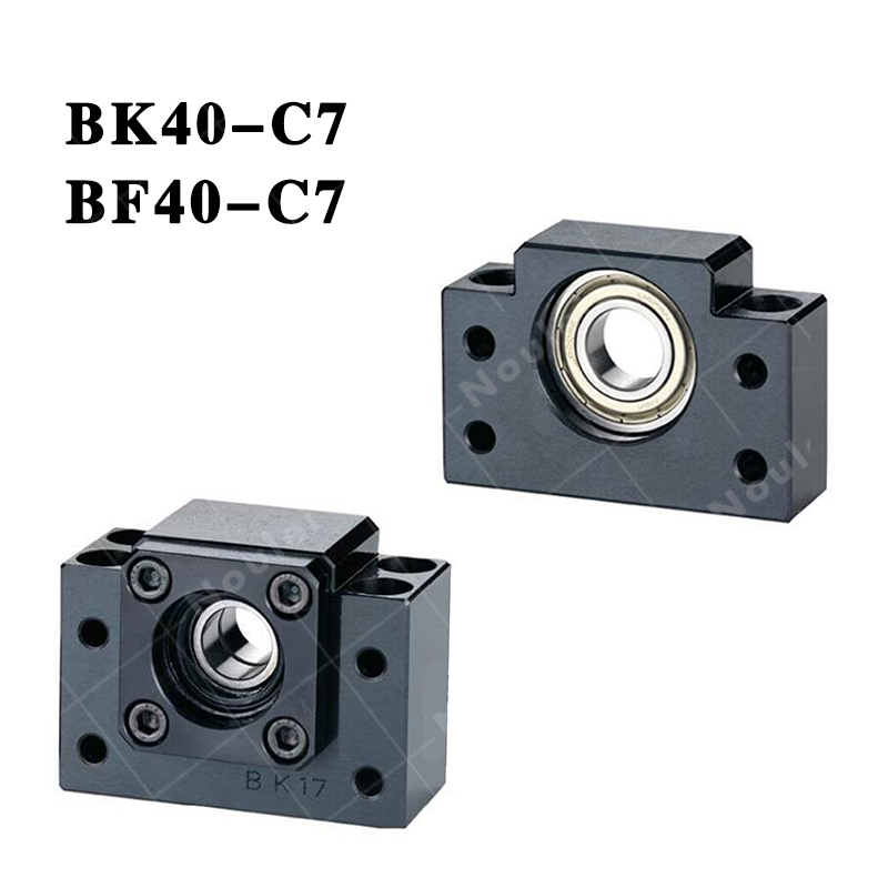 ( TMT ) CNC ballscrew end support BK40 Fixed-side + BF40 supported-side BK40-C7 / BF40 Black 2pairs lot bk40 bf40 ball screw end supports fixed side bk40 and floated side bf40 match with screw shaft
