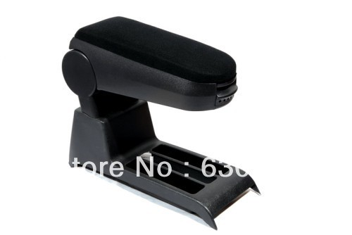 Center Console Armrest (Velour Black) For VW Volkswagen Polo 9N3