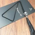 Мода Кожа Кристалл Кистями Мяч Длинная Цепь Ожерелье для Женщин Свитер Ювелирные Изделия Аксессуары