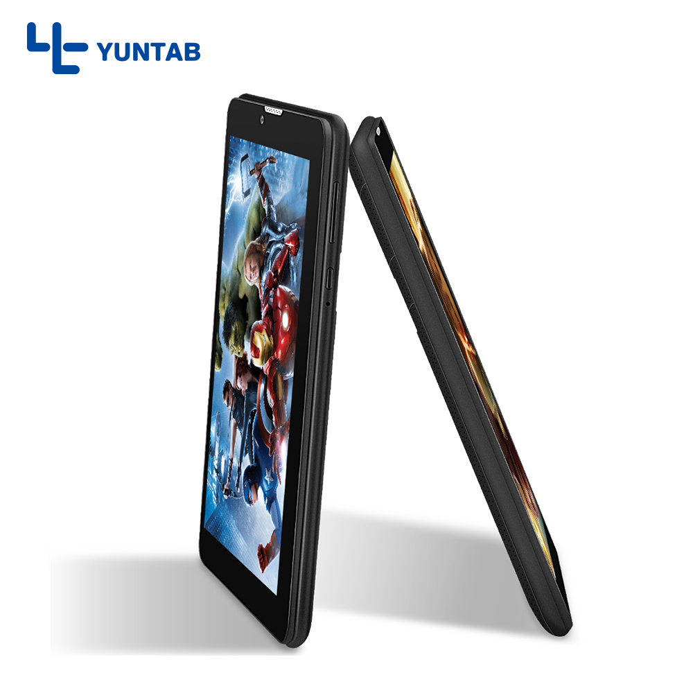 Yuntab 7inch E706 Android Tablet PC Quad Core Cortex A7 with Camera Support Dual SIM card (black) yuntab 7 inch q88 allwinner a33 quad core 512mb 8gb android 4 4 kids tablet pc hd screen dual camera