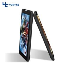 ¡ Venta caliente!! E706 Yuntab 7 pulgadas Android Tablet PC Quad Core de La Corteza A7 con Soporte de Doble Cámara de Doble tarjeta SIM (negro)