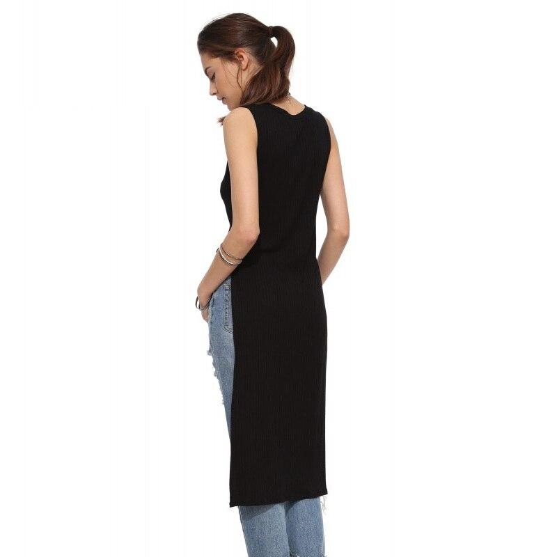 58b01290b New fashion women t shirt sexy top tee front short back long tops  sleeveless sexy lo shi t shirt tank casual vest ZT1046-in T-Shirts from Women's  Clothing ...