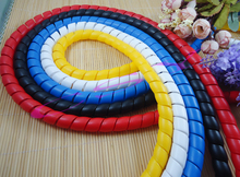 2M 14mm Spiral Wire Organizer Wrap Tube Flame retardant colorful spiral bands diameter Cable casing Cable Sleeves Winding pipe