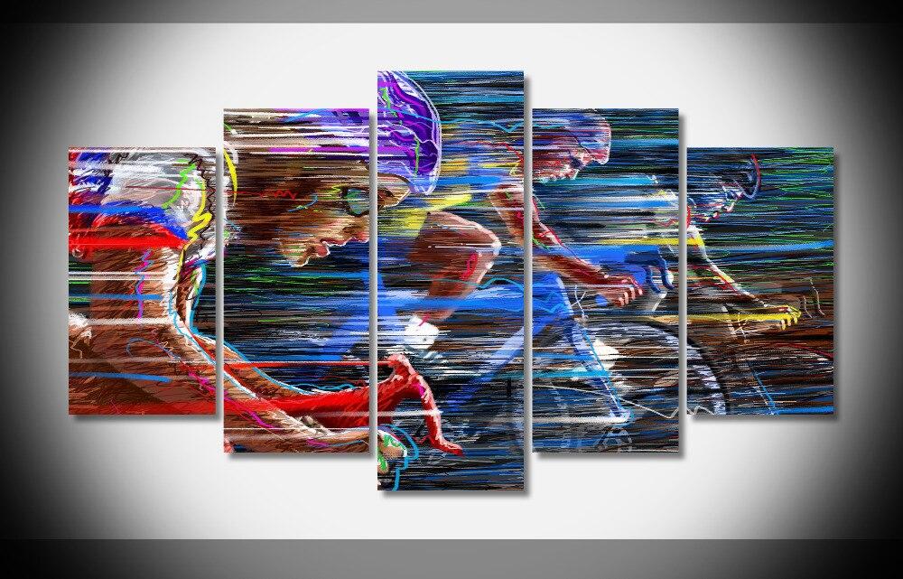 8314 спортивный велосипед Гонка Скорость изделие Велосипеды вектор Плакат оформлена галерея wrap art печать домашнего декора стены картину