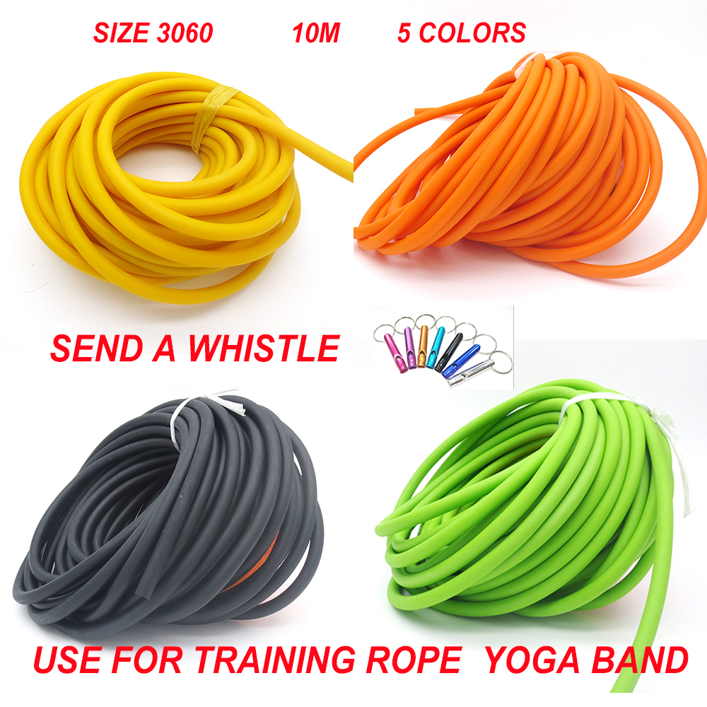10 Meters Yoga Rope DIY Sangle Yoga Exercise Equipment Sport Equipment Training Body Building 3060 Thera Band  10M a piece