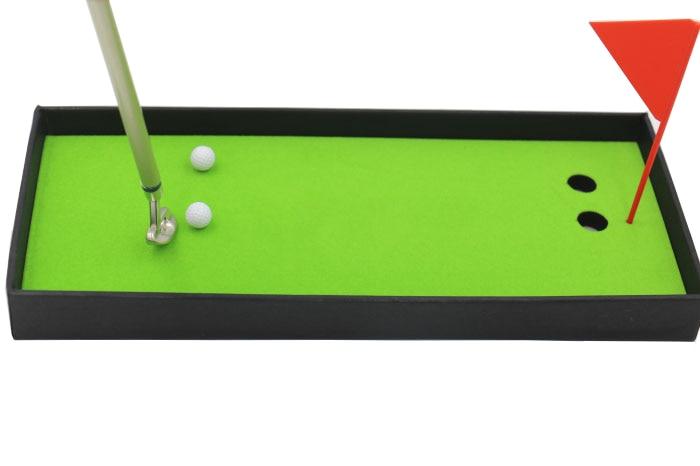 Купить с кэшбэком Golf Club Putter Ball Pen Golfers Gift Box Set Desktop Decor for School Supplies Golf accessories free shipping