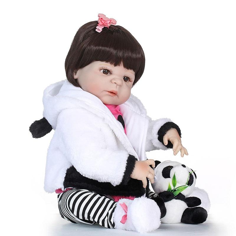 55CM Vinyl Jointed Reborn Doll Lifelike Newborn Baby Dolls for Kids Playmate Christmas Gift @ZJF 55cm vinyl jointed reborn doll lifelike kids baby dolls for infant playmate christmas gift m09