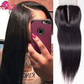 Sassy 1b Brazilian Straight Closure 7a Lace Closure Straight Free Part Middle Part Three Part Human Hair Closure With Baby Hair