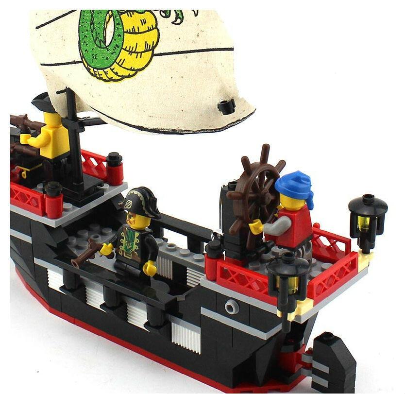 Enlighten 301 New 211pcs Pirate Series Pirate Ship Dragon Boat Model - Կառուցողական խաղեր - Լուսանկար 5