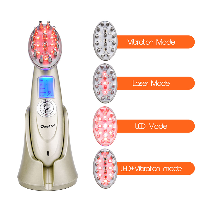 Anti Hair Loss Comb RF EMS LED Photon Laser Stimulate Hair Growth Comb Head Scalp Repair Renewable Massage Beauty Hair Comb P46