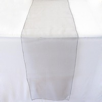 Grey Silver Organza Table Runners 12 X108 Wedding Party Decoration Colors Favor Decor Hot Sale Wedding